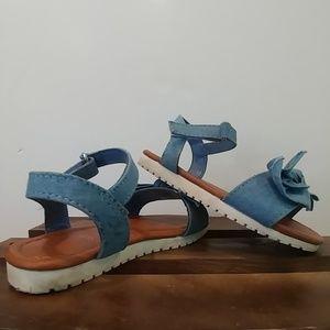 wonder nation Shoes - Wonder Nation demin bowed sandals size 7